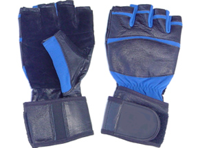 Black Leather with Blue Trim