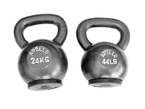 Cast Iron Kettlebells w/ Rubber Mount