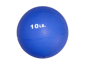 10lb. Rubber Medicine Ball (Blue)