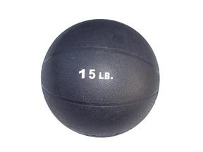 15lb Rubber Medicine Ball (Black)